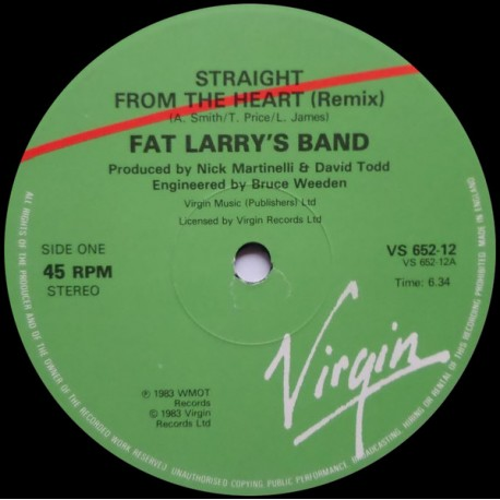 Fat Larrys Band - Straight from the heart (Remix / Dub mix / Edit)
