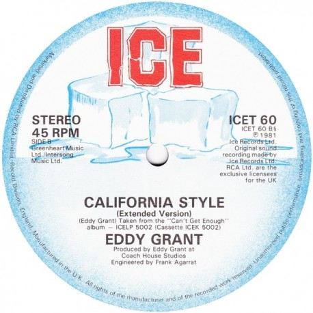 Eddy Grant - California style (Extended Version) / Till i cant take love no more (Extended Version)