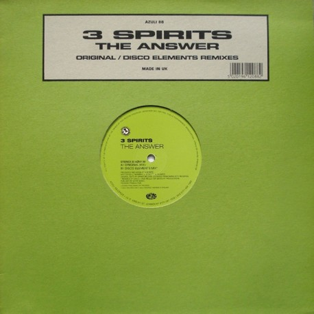3 Spirits - The answer (Disco Elements mix / Original mix)