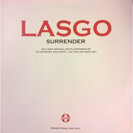 Lasgo - Surrender (Extended mix / Pulsedriver Remix / Nick Skitz Club mix / LMC Remix / Jan Vervloet Remix) Doublepack Promo