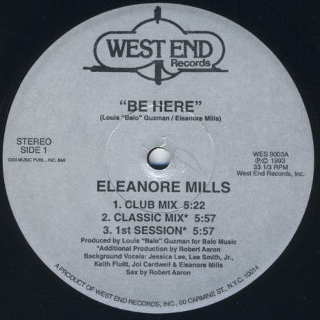Eleanore Mills - Be here (Club mix / Classic mix / 1st Session / Eleanore's mix / Dub mix)