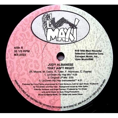 Judy Albanese - That aint right (Danny Krivit Klub mix / Lo Down Hip Hop mix / Original LP Version / Ujam Klub mix / Lo Down Bea