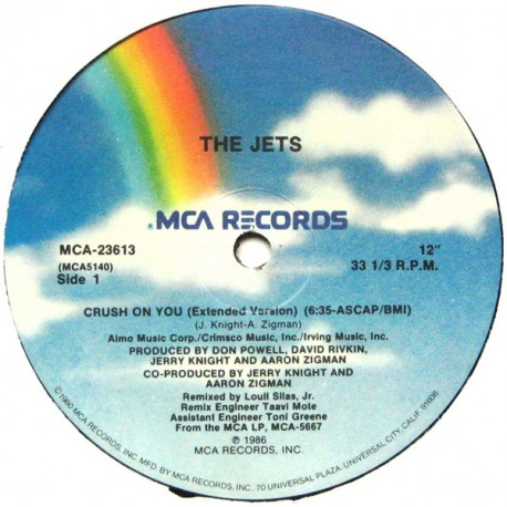 The Jets - Crush on you (Extended Version / Instrumental / Radio Edit)