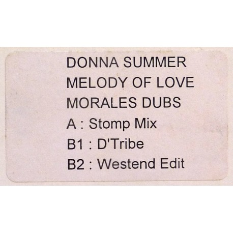 Donna Summer - Melody of love (David Morales Stomp mix / Morales D'Tribe mix / Westend Edit) Promo