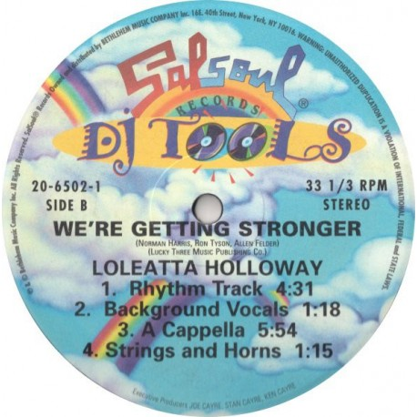 Loleatta Holloway - We're getting stronger (Original mix / Instrumental / Bass and drums / Rhythm track / Background vocals / Ac