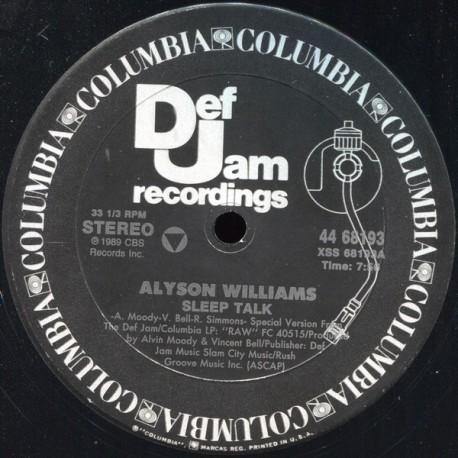 Alyson Williams - Sleep talk (Extended Version) / Im so glad (Duet with Chuck Stanley)