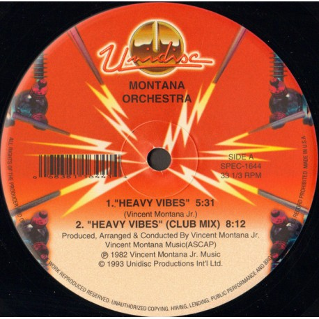Montana Sextet - Heavy vibes (Club mix / Original Version) / Number 1 Dee Jay (Full Length Version)