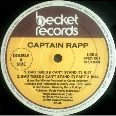 Captain Rapp - Bad times (I cant stand it) Part 1 / Part 2