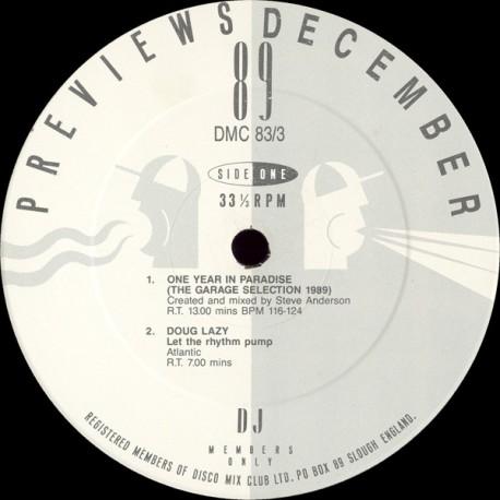 "DMC  Remixes - DJ only remixes LP featuring Doug Lazy ""Let the rhythm pump"" (Dakayne & Steve Anderson Remix) / Chas Jankel ""Glad"