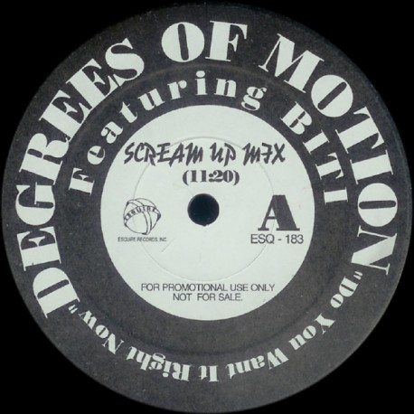 Degrees Of Motion - Do you want it right now (Scream Up Mix / Dub - Appella) Promo