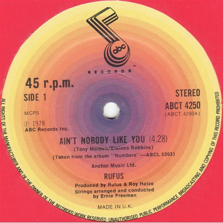 Rufus - Aint nobody like you / Youre to blame