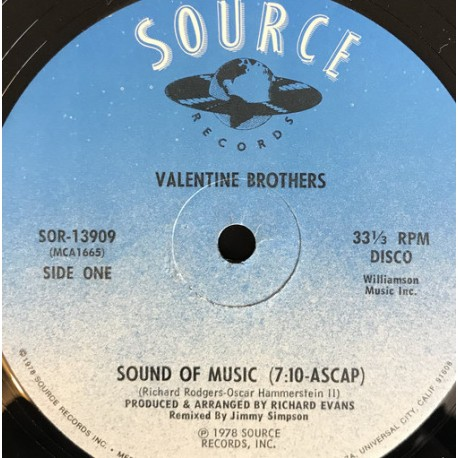 Valentine Brothers - Sound of music / I'm in love