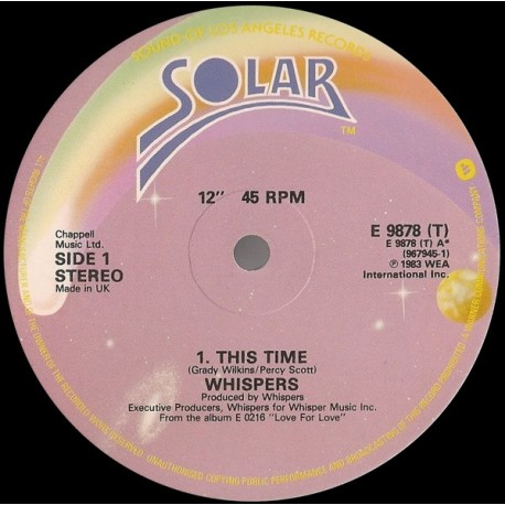 Whispers - This time (Long Version) / Tonight / Turn me out