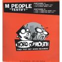 "M People - Testify (D Influence, Big String & Rae & Christian remixes) 12"" Vinyl Record Promo"
