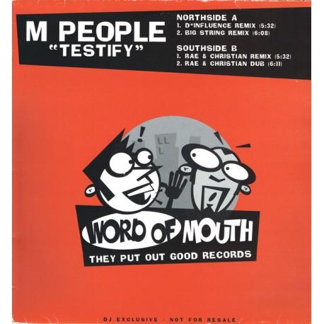 M People - Testify (D*Influence, Big String & Rae & Christian remixes) promo