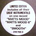 "Matt Bianco - Matts mood (Remix) / Matts mood II / Up front / Smooth / Just cant stand it (12"" mix) 12"" Vinyl Record"