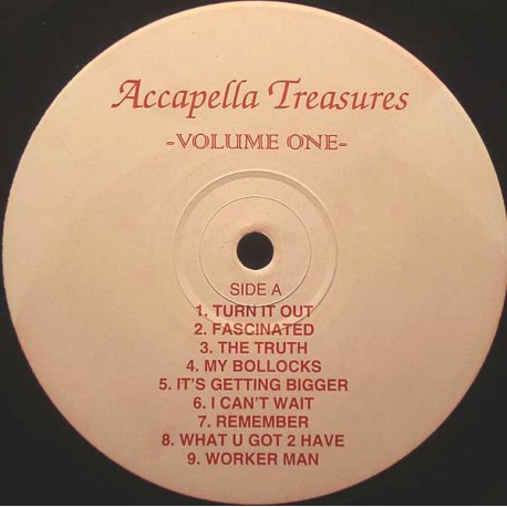 """Acappella Treasures Volume One - 16 vocals for mixing use featuring Kathy Brown """"Turn it out"""" / Fascinated / The truth / My boll"""