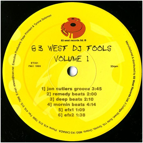 83 West DJ Tools - Volume 1 (Beats & Grooves) featuring Jon Cutlers groove / Remedy beats / Deep beats / Mornin beats / Tommy Mu