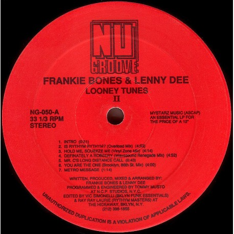 Frankie Bones & Lenny Dee presents - Looney tunes II (15 funky house breaks and loops for dj use) featuring Intro / Is rhythm rh