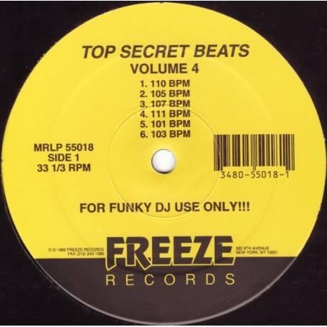 Top Secret Beats - Volume 4 (12 funky loops for DJ use) featuring 110bpm / 105bpm / 107bpm / 111bpm / 101bpm / 103bpm / 117bpm /
