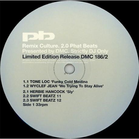 "DMC  Remixes - 5 Track DJ Only Remixes featuring Tone Loc "" Funky cold medina"" (DJ Stews Ghetto Funk Dub) / Wyclef Jean ""We tryi"