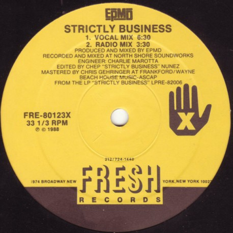 EPMD - Strictly business (Club mix / Radio mix / Dub mix / Acappella)