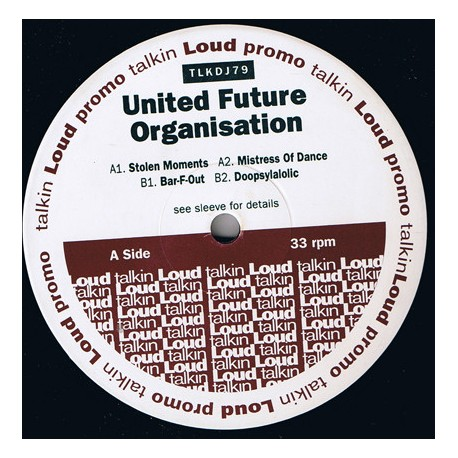"""United Future Organisation EP feat Stolen Moments / Mistress Of Dance / Magic Wand Of Love (12"""" Vinyl Record) Promo"""