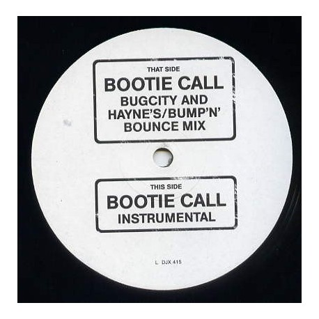 "All Saints - Bootie call (Bugcity & Haynes Bumpn Bounce Mix / Instrumental) 1 of 400 Promo (12"" Vinyl Record)"