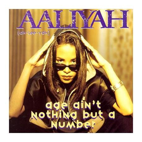 "Aaliyah - Age ain't nothing but a number (LP Version / Instrumental / Havok Remix / Linslee Remix) 12"" Vinyl Record"