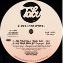 "Alexander ONeal - All true man (LP Version / Instrumental / Radio Edit) 12"" Vinyl Record Promo"