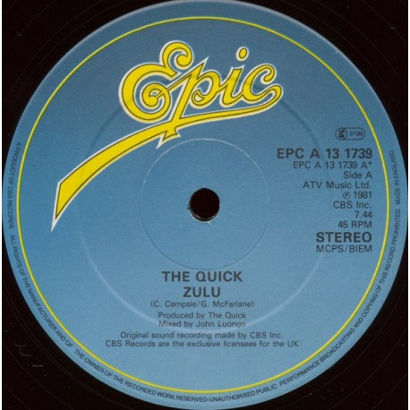 Quick - Zulu (Long Version) / Eat your words
