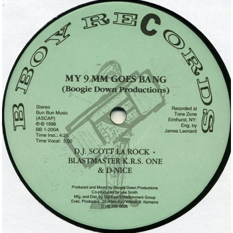 Boogie Down Productions - My 9 mm goes bang (vocal mix / Instrumental) / Criminal minded (vocal mix / Instrumental)