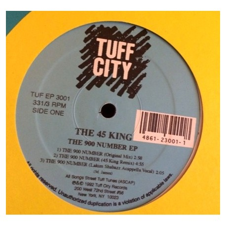 45 King - The 900 Number EP (Original mix / 45 King Remix / Ced Gee Remix 1 / Ced Gee Remix 2 / Ced Gee Remix 3 / YZ Acappella V