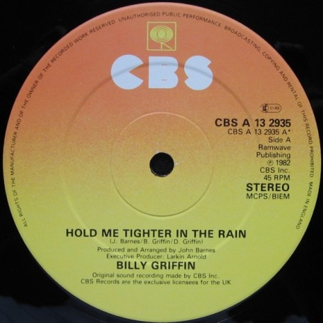Billy Griffin - Hold me tighter in the rain (Full Length Version) / Understand
