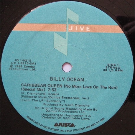 Billy Ocean - Carabbean queen (Special mix / Diamond mix / Instrumental)