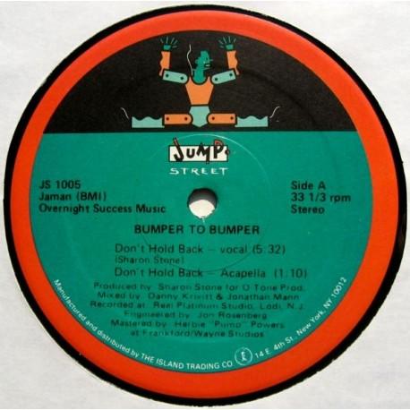 Bumper To Bumper - Dont hold back (Vocal mix / Radio mix / Acappella / Instrumental)