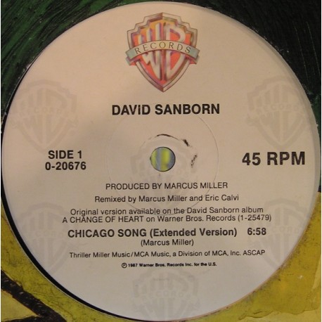 David Sanborn - Chicago song (extended remix) / Imogene