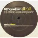 187 Lockdown - All n all feat D'empress (Original / Booker T Remix / Bookerpella) / Southside (C Ken Remix) Vinyl Promo
