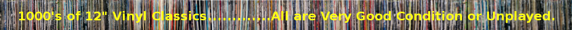 "Over 10,000 Vinyl Classics for Sale - 12"" Singles and LP Records."